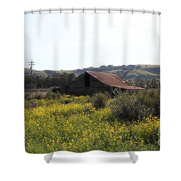 Old Barn in Sonoma California 5D22234 Shower Curtain by Wingsdomain Art and Photography