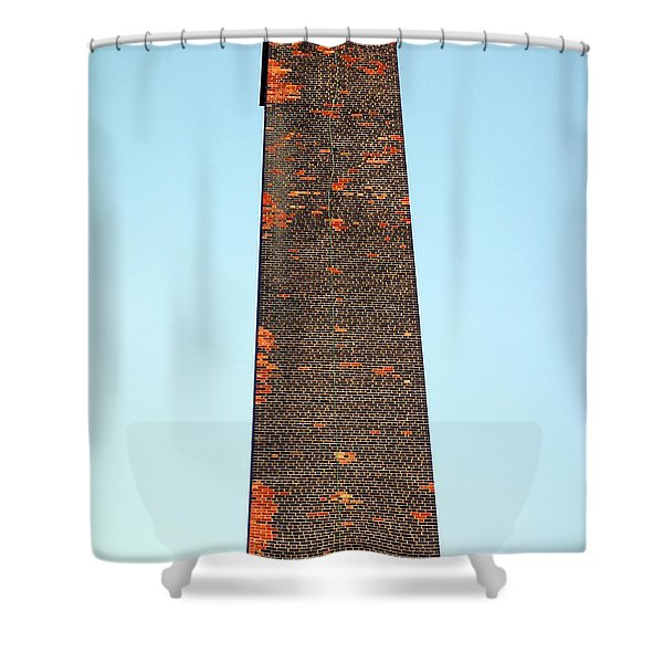 Old Brick Stack Shower Curtain by Valentino Visentini