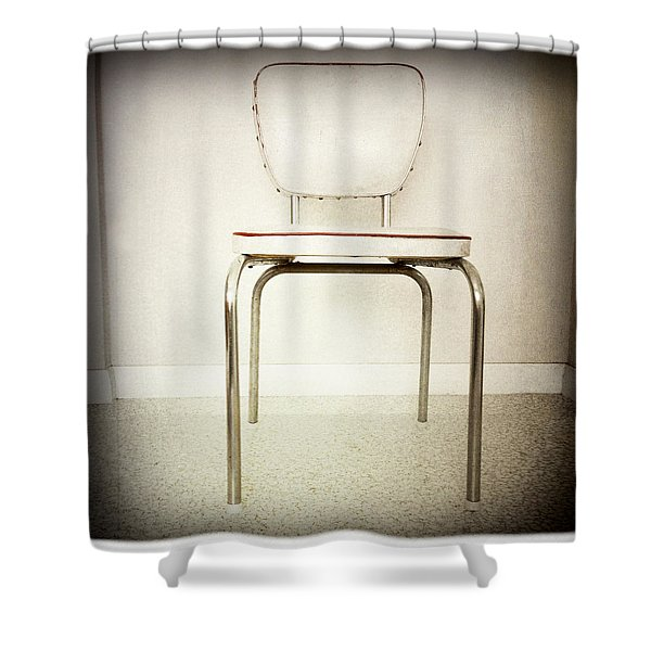 Old Chair Shower Curtain by Les Cunliffe