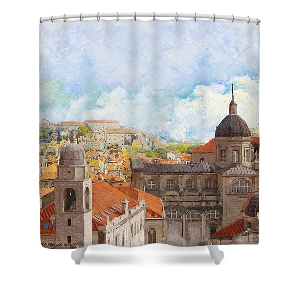Old City of Dubrovnik Shower Curtain by Catf