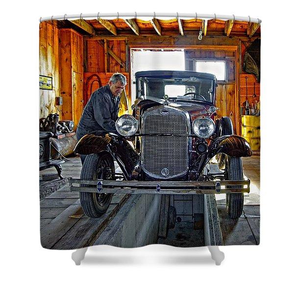 Old Fashioned Tlc Shower Curtain by Steve Harrington