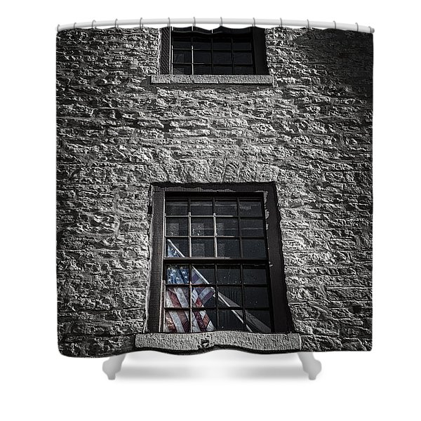 Old Glory Shower Curtain by Scott Norris
