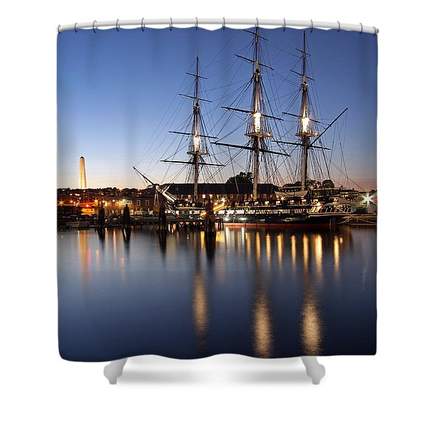 Old Ironsides Shower Curtain by Juergen Roth