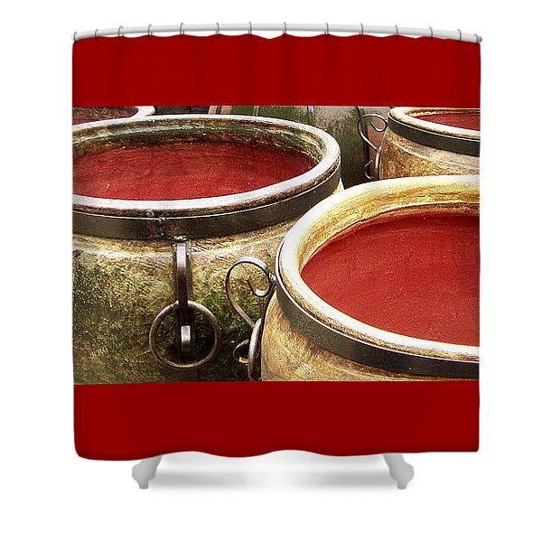 Old Jugs Shower Curtain by Ben and Raisa Gertsberg