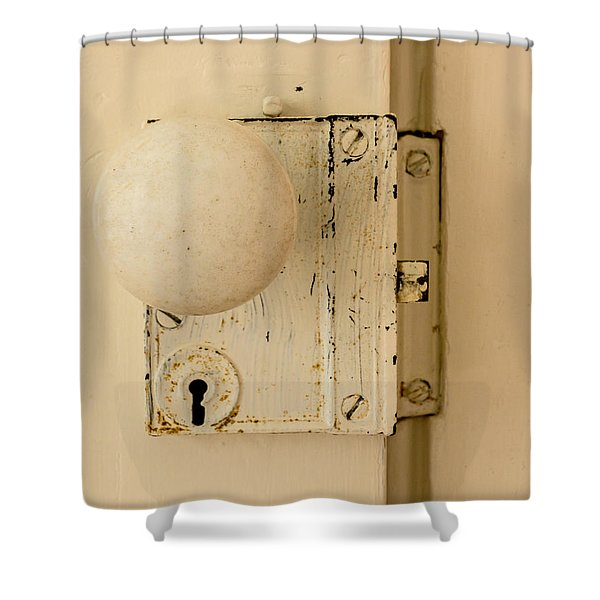 Old Lock Shower Curtain by Photographic Arts And Design Studio