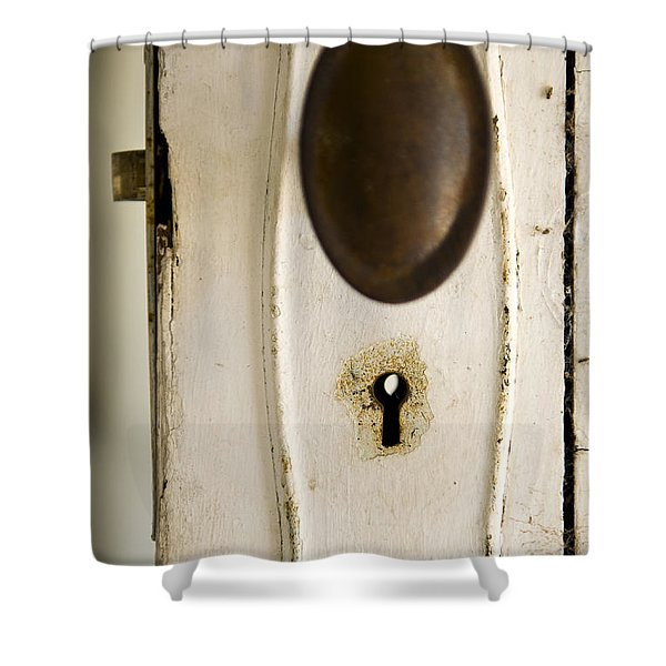 Old Lock Shower Curtain by Tim Hester