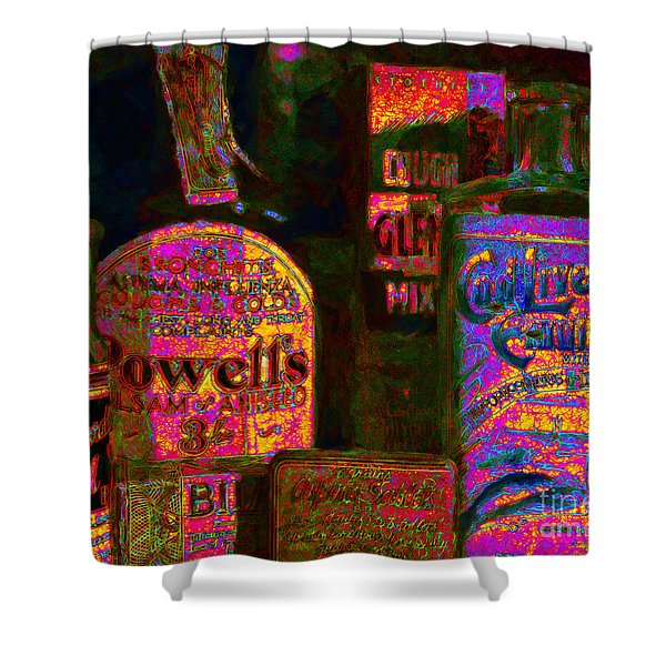 Old Pharmacy Bottles - 20130118 v2a Shower Curtain by Wingsdomain Art and Photography