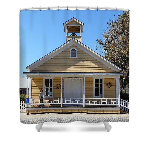 Old Sacramento California Schoolhouse 5D25543 Shower Curtain by Wingsdomain Art and Photography