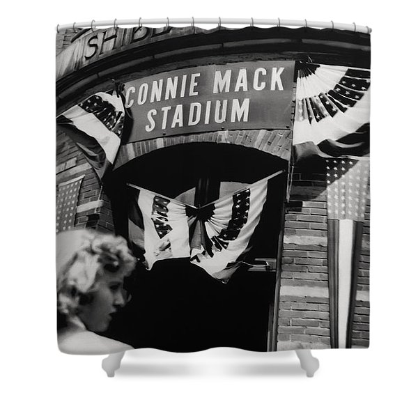 Old Shibe Park - Connie Mack Stadium Shower Curtain by Bill Cannon