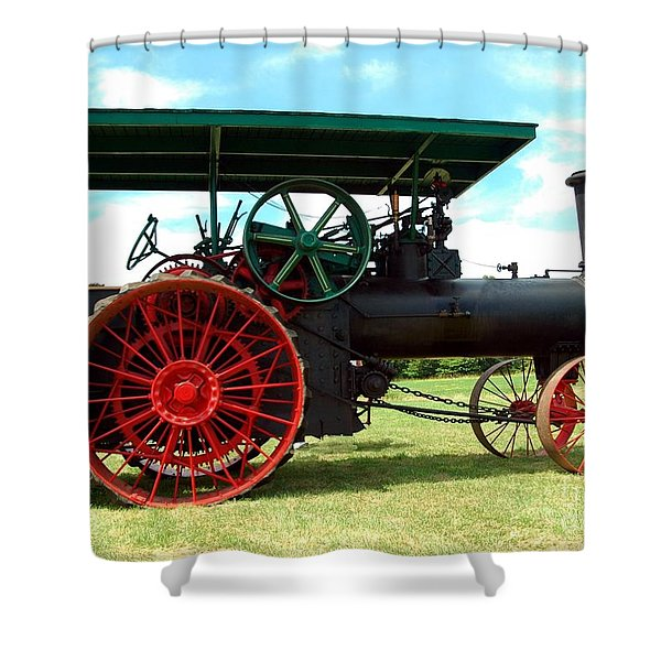 Old Steam Engine Shower Curtain by Kathleen Struckle