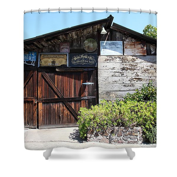 Old Storage Shed At the Swiss Hotel Sonoma California 5D24458 Shower Curtain by Wingsdomain Art and Photography