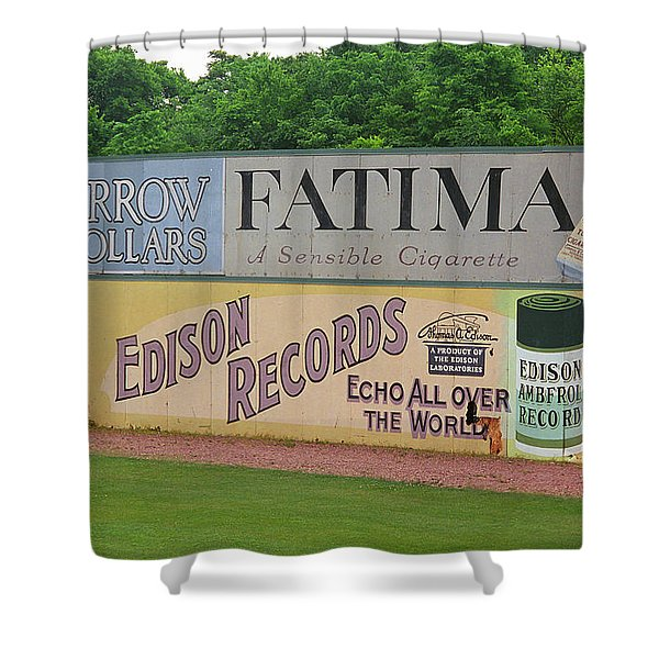 Old Time Baseball Field Shower Curtain by Frank Romeo