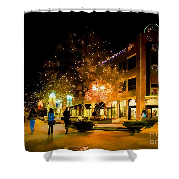 Old Town Christmas Shower Curtain by Jon Burch Photography