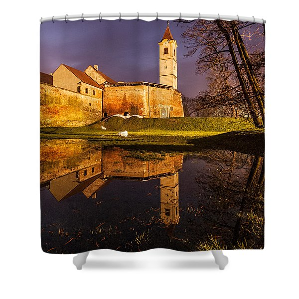 Old Town Shower Curtain by Davorin Mance