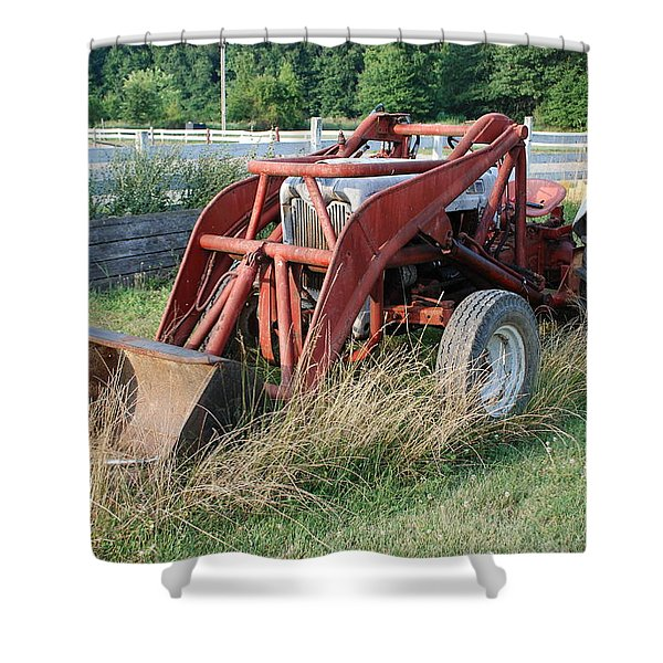 old tractor Shower Curtain by Jennifer Lyon