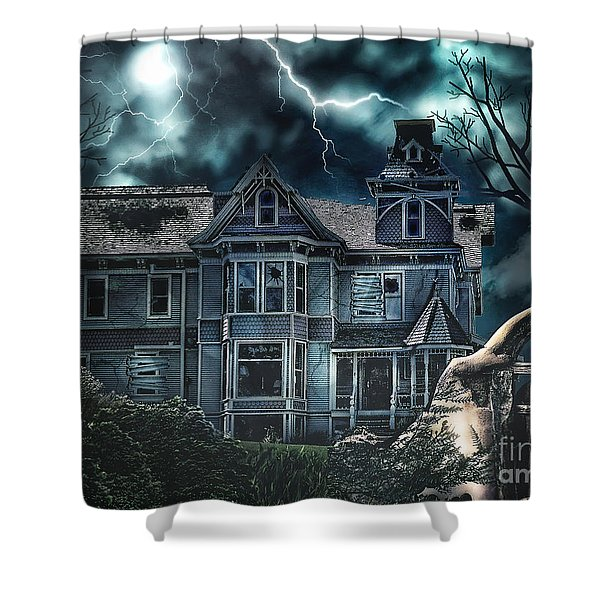 Old Victorian House Shower Curtain by Mo T