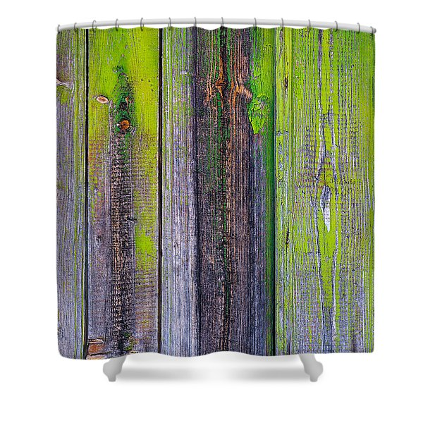 Old Wooden Background Shower Curtain by Carlos Caetano