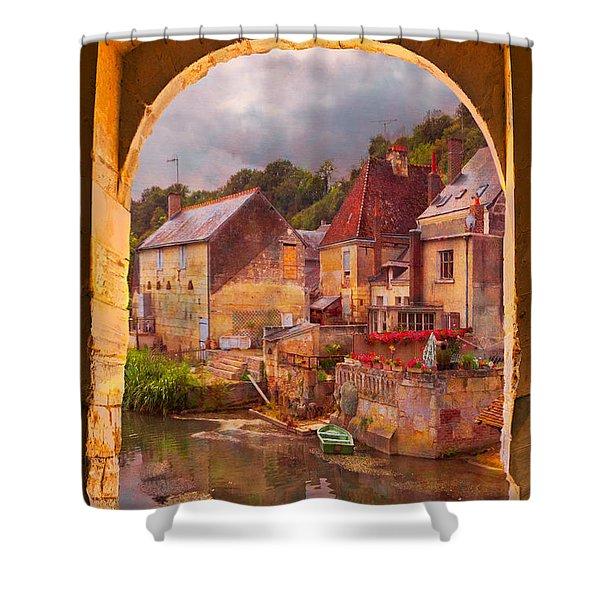 Old World Shower Curtain by Debra and Dave Vanderlaan