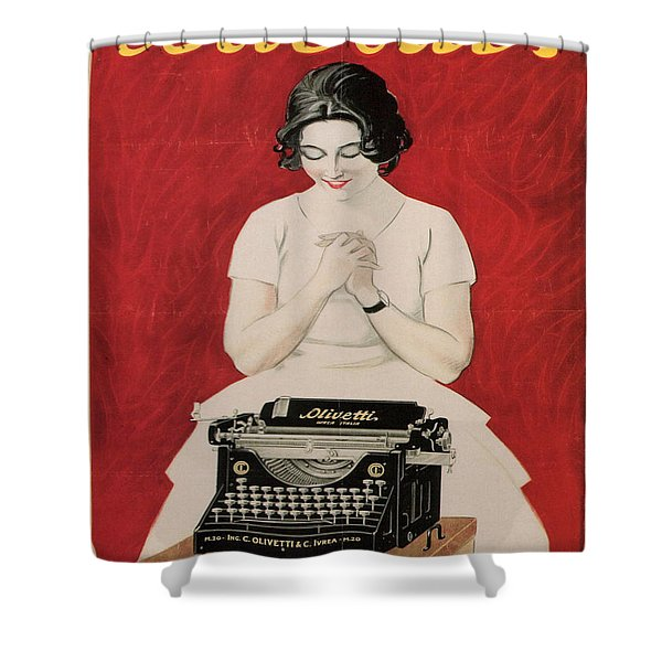 Olivetti Shower Curtain by Nomad Art And  Design
