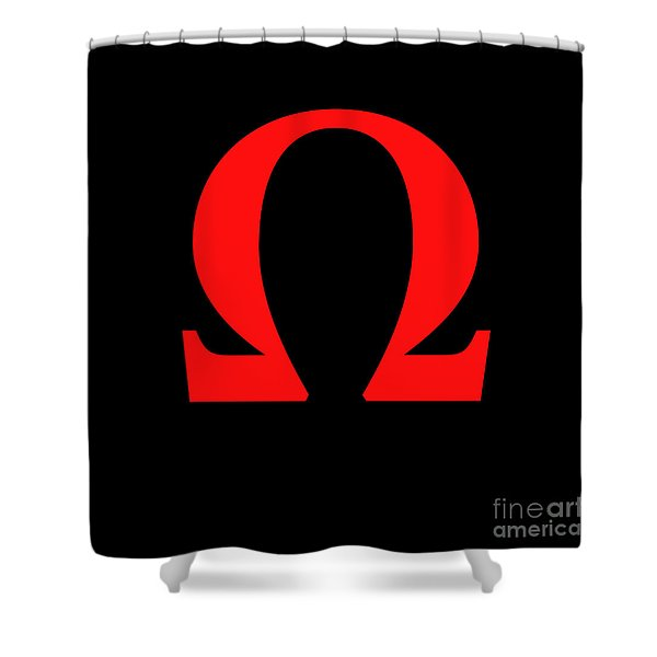omega Shower Curtain by Bruce Stanfield