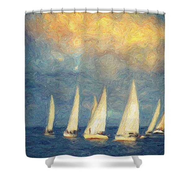 On a day like today  Shower Curtain by Taylan Soyturk
