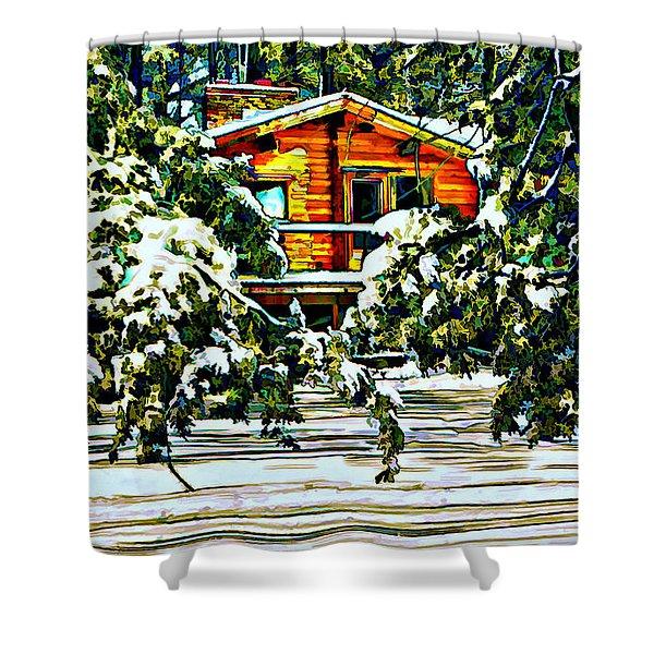 On a Winter Day Shower Curtain by Steve Harrington