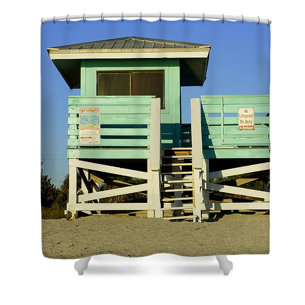 On Duty Shower Curtain by Laurie Perry