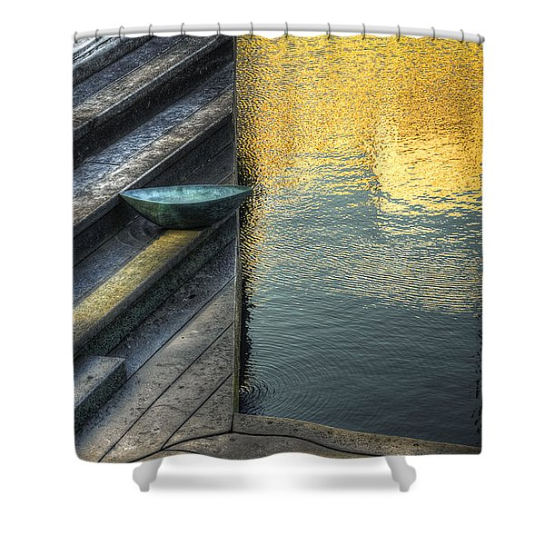 On Golden Pond Shower Curtain by Wayne Sherriff
