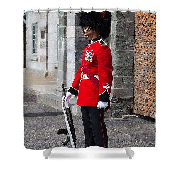 On Guard Quebec City Shower Curtain by Edward Fielding