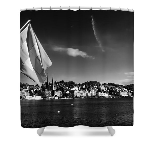 On Lake Lucerne Shower Curtain by Mountain Dreams