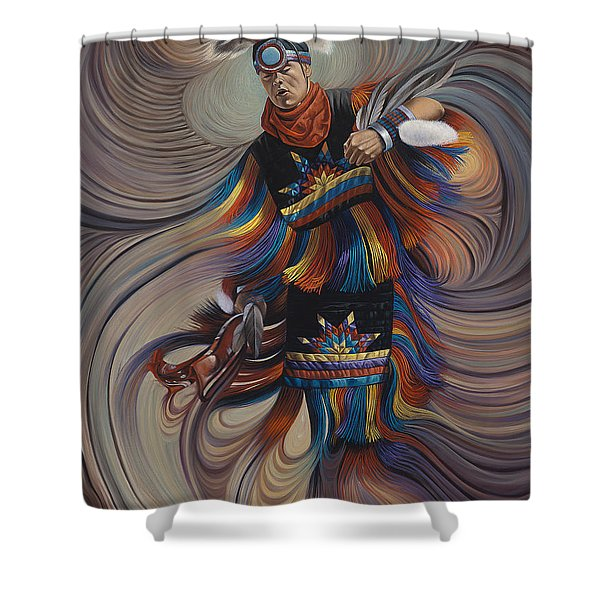 On Sacred Ground Series II Shower Curtain by Ricardo Chavez-Mendez