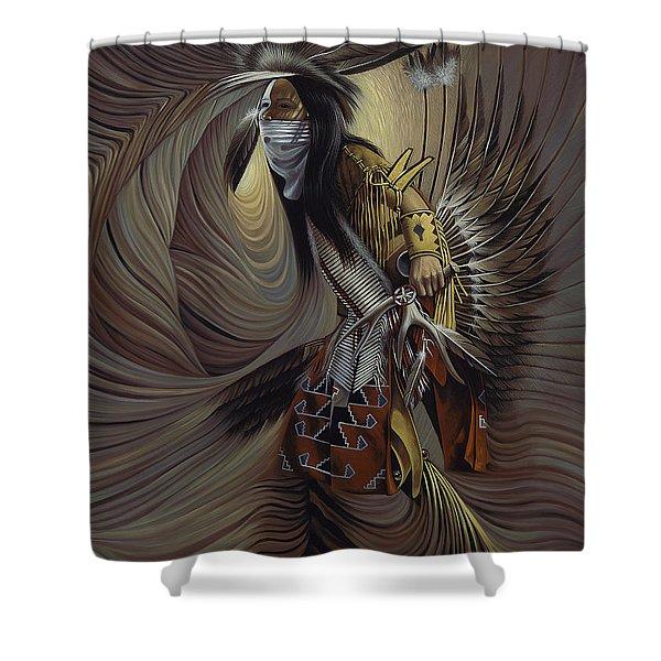 On Sacred Ground Series IIl Shower Curtain by Ricardo Chavez-Mendez