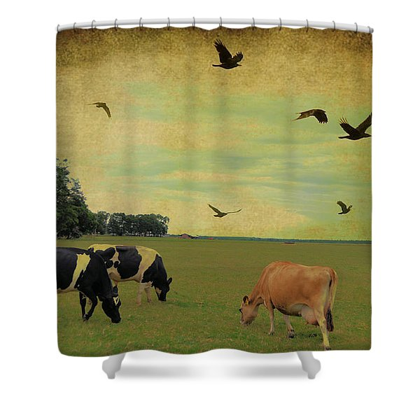 On This Green Earth Shower Curtain by Jan Amiss Photography