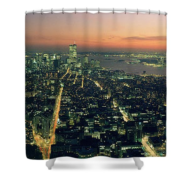 On Top Of The City Shower Curtain by Jon Neidert