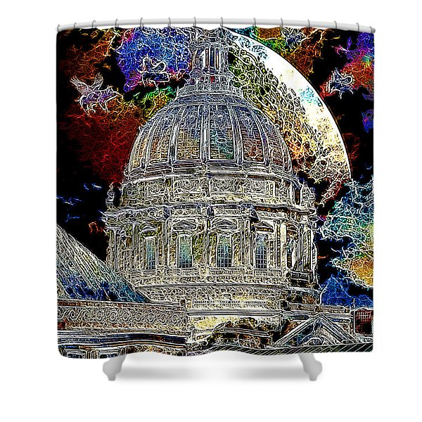 Once Upon A Time On A Warm Summers Night In San Francisco 5d22548 Artwork Shower Curtain by Wingsdomain Art and Photography