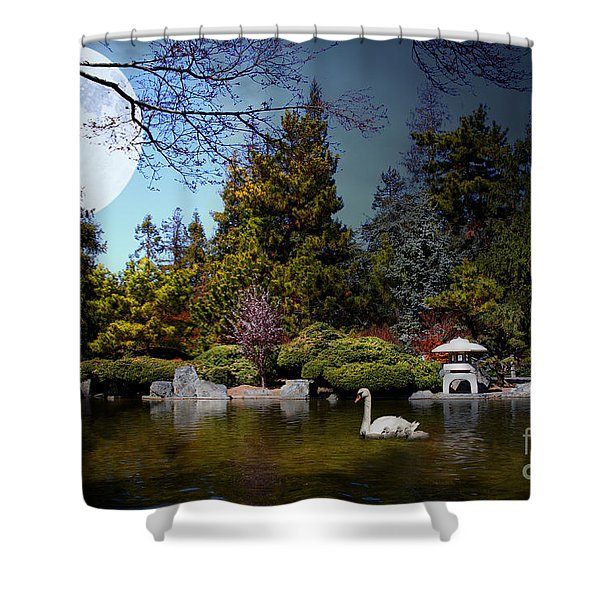 Once Upon A Time Under The Moon Lit Night . 7D12782 Shower Curtain by Wingsdomain Art and Photography