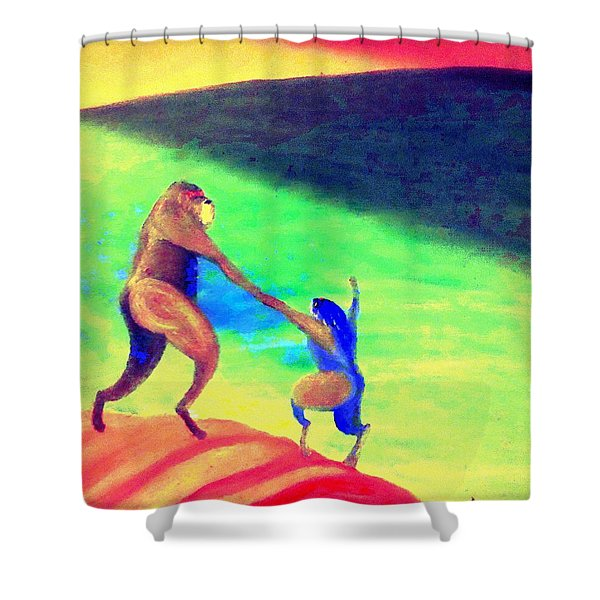 One day All this will be yours  Shower Curtain by Hilde Widerberg