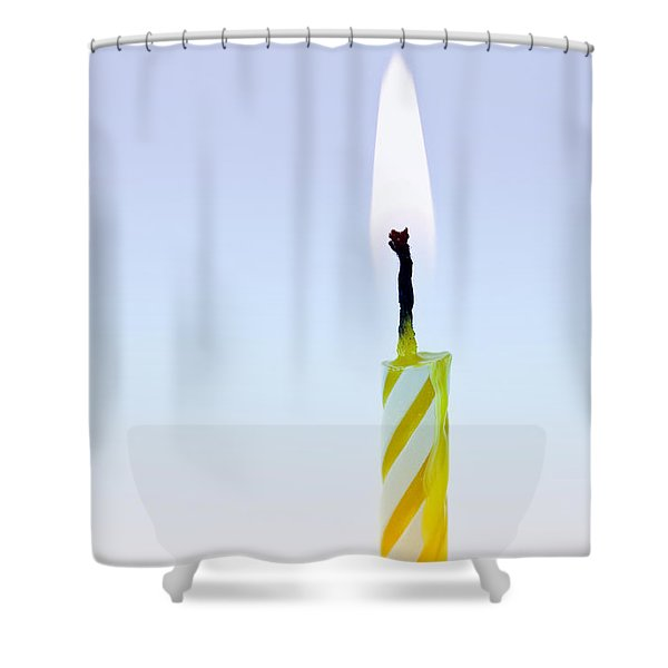 One Lit Candle Shower Curtain by Elena Elisseeva