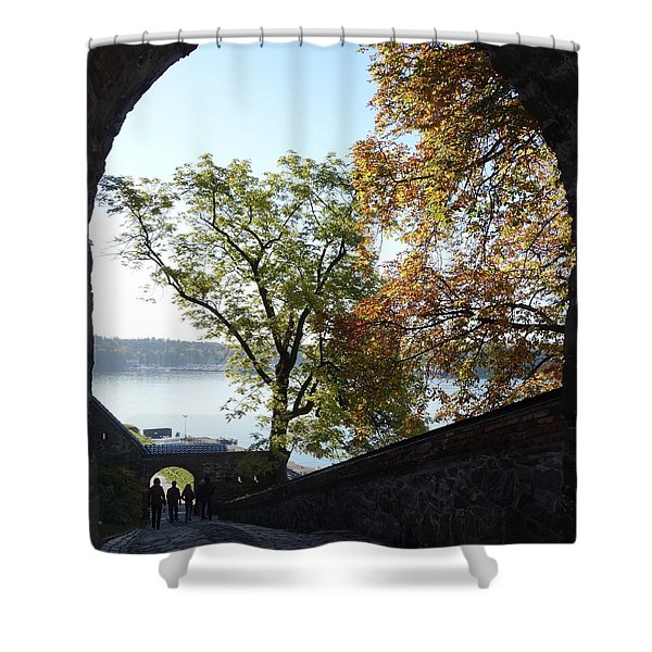 Open gate Shower Curtain by Hilde Widerberg
