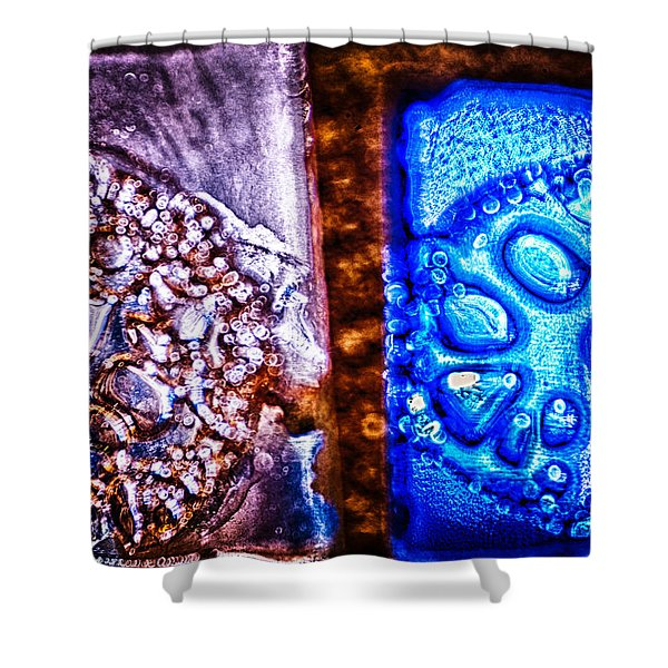 Opposing Forces Shower Curtain by Omaste Witkowski