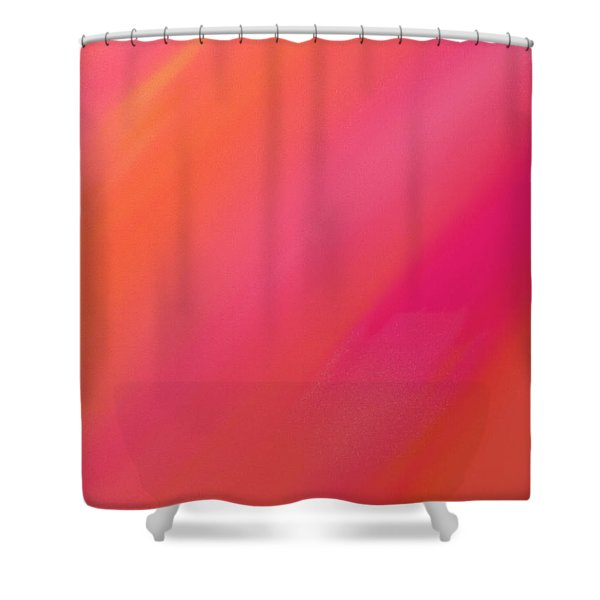 Orange And Raspberry Sorbet Abstract 1 Shower Curtain by Andee Design