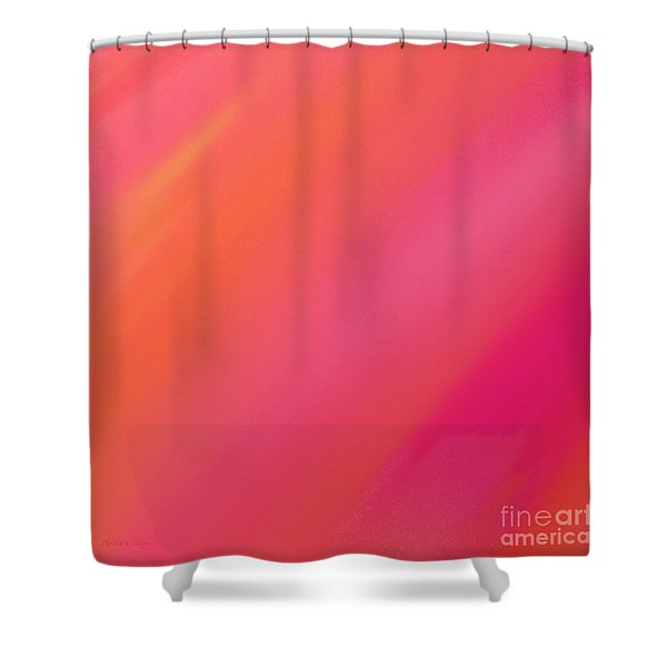 Orange And Raspberry Sorbet Abstract 2 Shower Curtain by Andee Design
