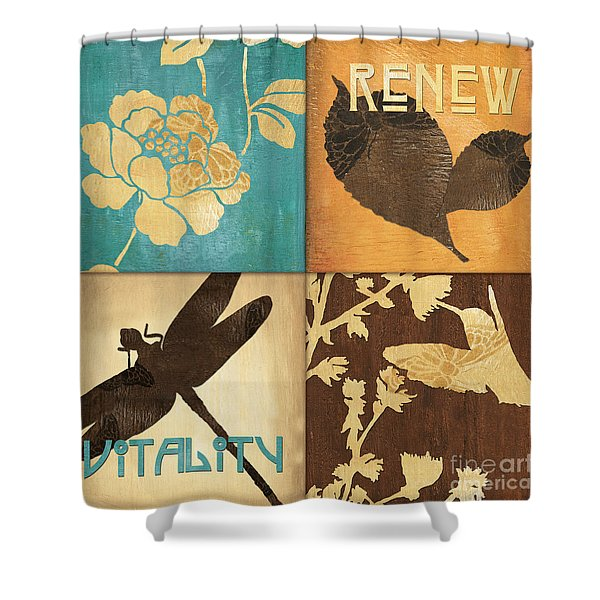 Organic Nature 4 Shower Curtain by Debbie DeWitt