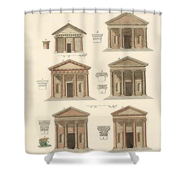 Origin And Development Of Architecture Shower Curtain by Splendid Art Prints