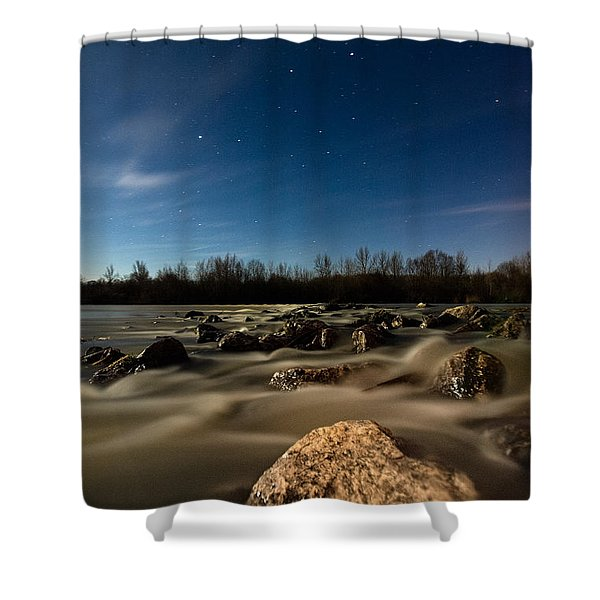 Orion Shower Curtain by Davorin Mance