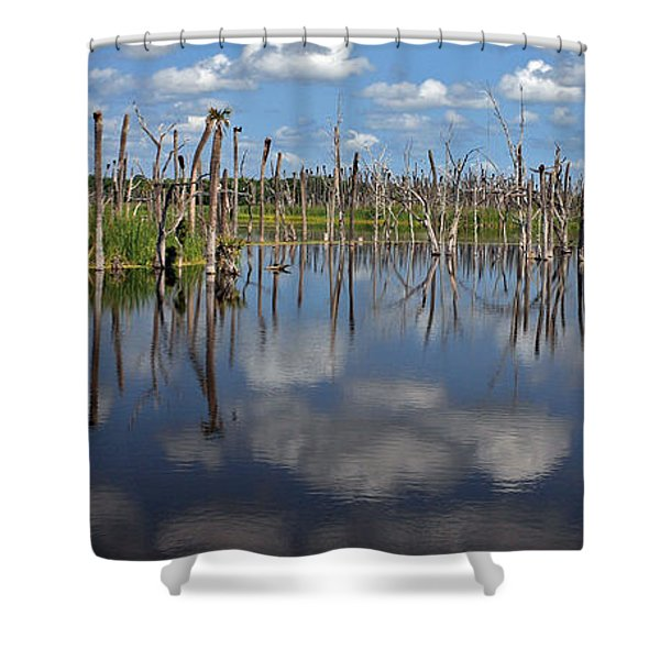 Orlando Wetlands Cloudscape 5 Shower Curtain by Mike Reid