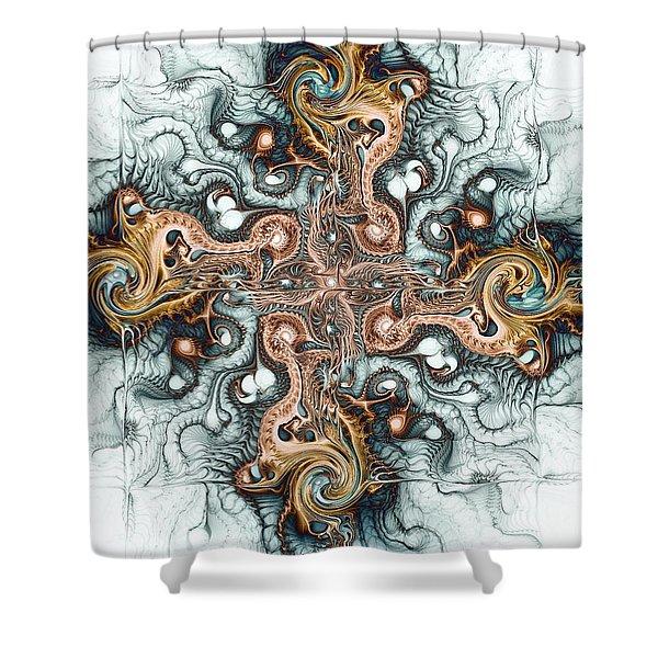Ornate Cross Shower Curtain by Anastasiya Malakhova