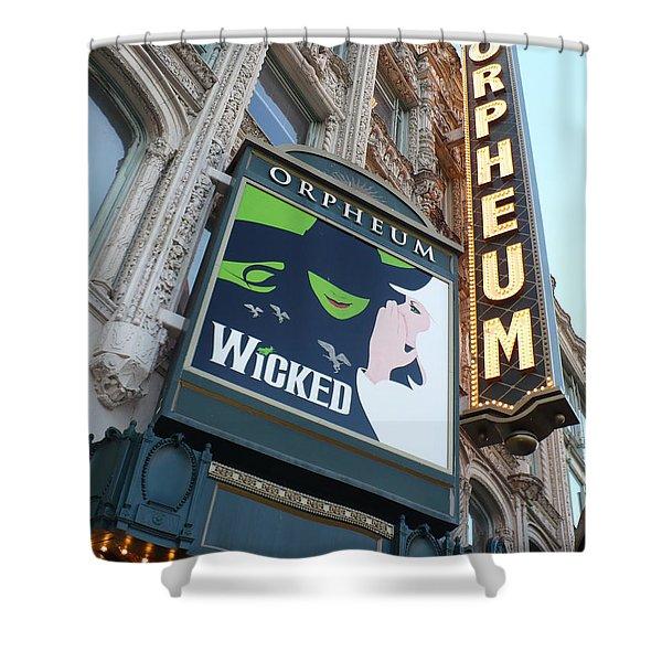 Orpheum Sign Shower Curtain by Carol Groenen