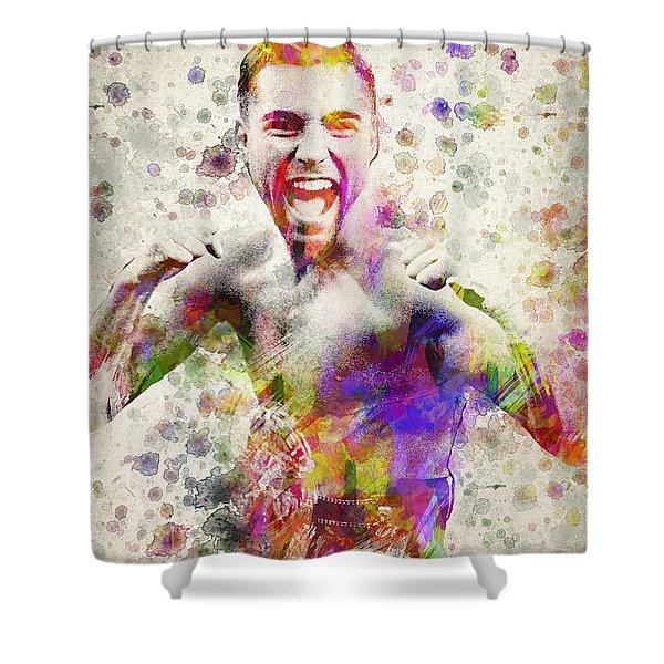 Oscar De La Hoya Shower Curtain by Aged Pixel