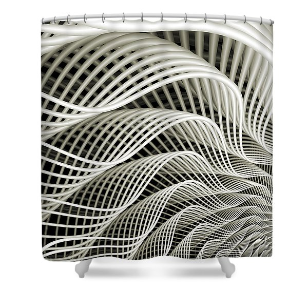 Oscillation Shower Curtain by Kevin Trow